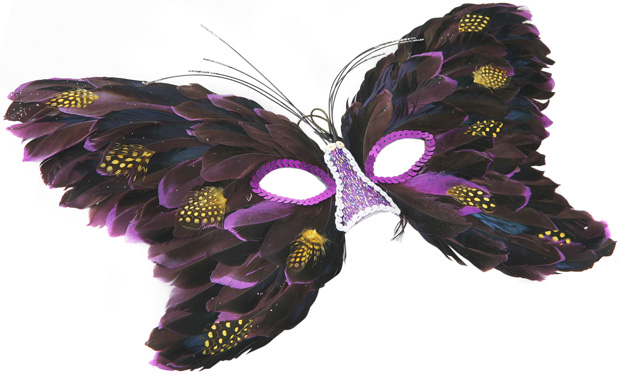 Butterfly Feather Eye Mask
