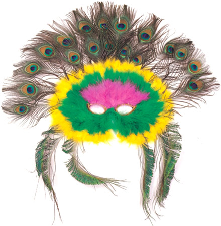 Colorful Feather Peacock Eye Mask