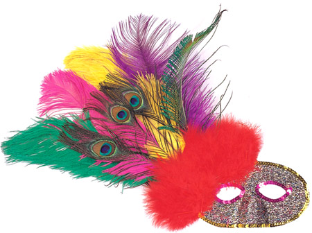 Side Feather Party Eye Mask