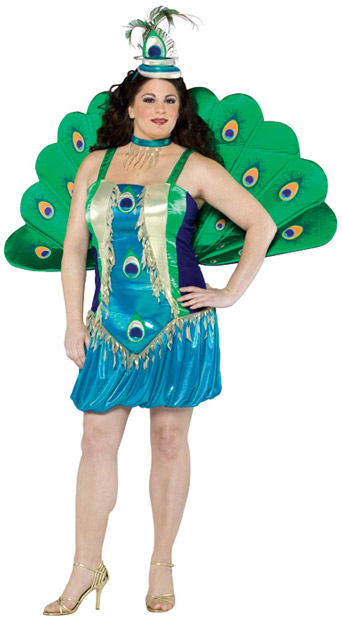 Plus Size Peacock Costume