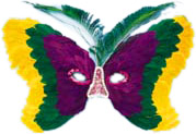 Butterfly Mardi Gras Feather Eye Mask