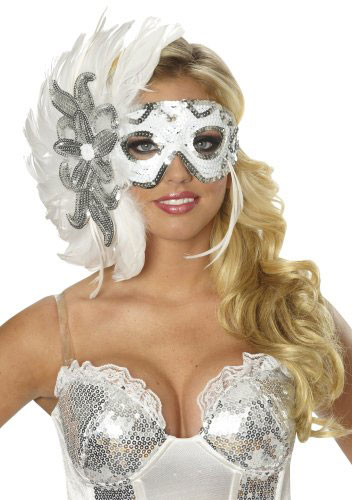 Women's Winters Eve Feather Eye Mask