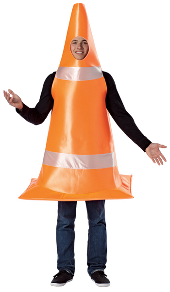 Adult Orange Cone Costume
