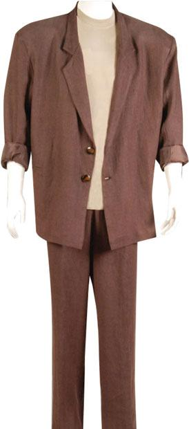 Brown Miami Vice 80s Suit Plus Size Costume