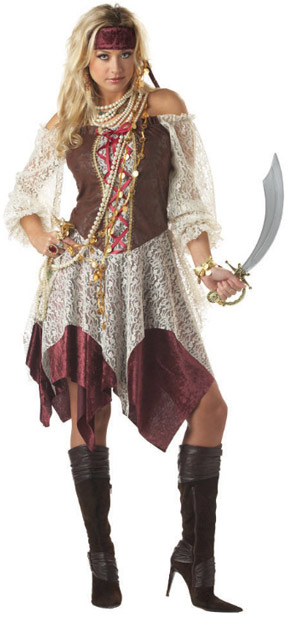 Adult South Seas Lady Pirate Costume