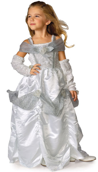 Child Snow Queen Costume Dress