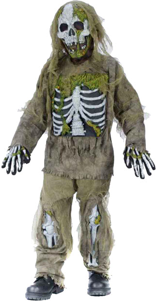 Child's Skeleton Zombie Costume
