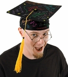 Black Signature Graduation Hat