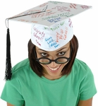White Signature Graduation Hat