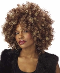 Women's Brown & Blonde Foxy Fro Wig