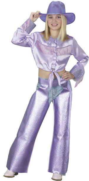 Girl's Purple Country Singer Costume