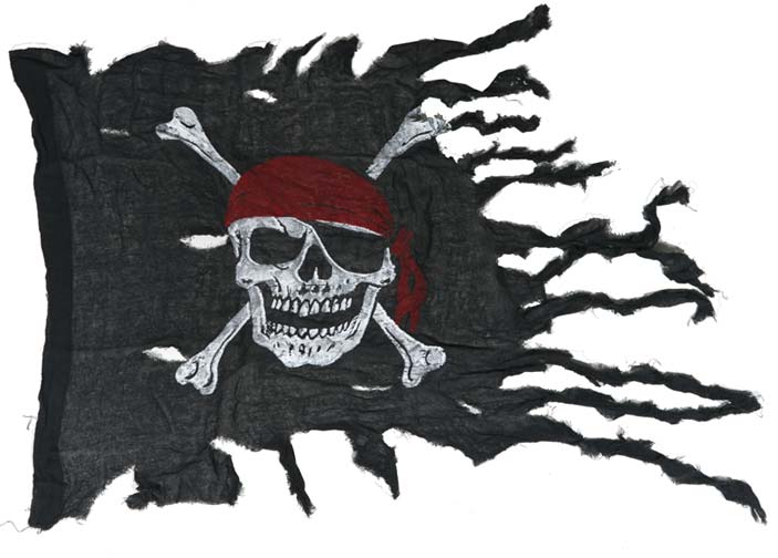 Tattered Pirate Flag