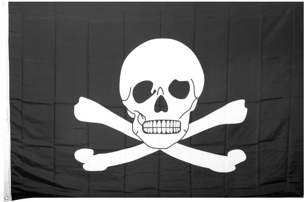 Large 4' x 6' Pirate Flag