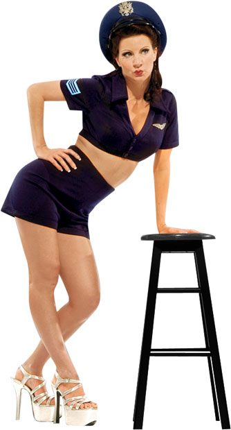 WWII Blue Navy Pinup Girl Theater Costume