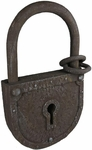Large Rusty Padlock Prop