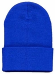 Beanie Ski Cap Hat in Royal Blue