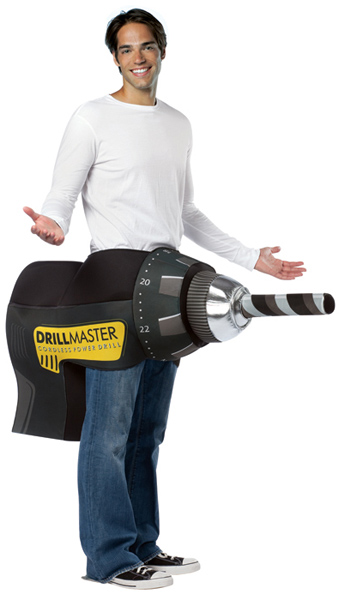 Adult Electric Drill Costume