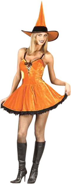 Sexy Pumpkin Witch Costume