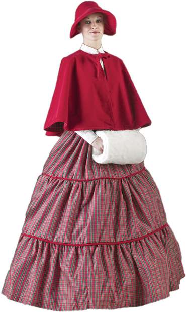 Women's Christmas Caroler Costume