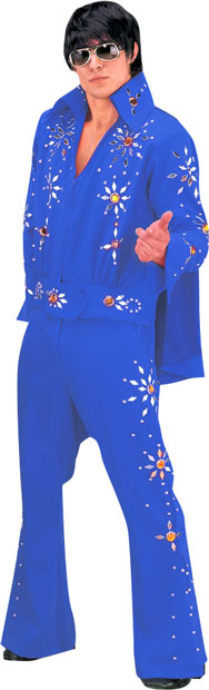 Blue Elvis Two Piece Theater Costume