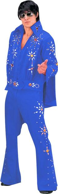 Blue Elvis Two Piece Theater Plus Size Costume