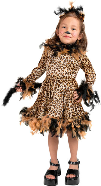 Toddler Leopard Cat Dress Costume