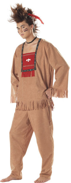 Adult Running Bull Indian Costume