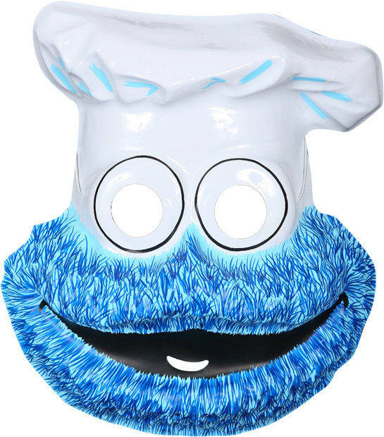 Child's Sesame Street Cookie Monster PVC Mask