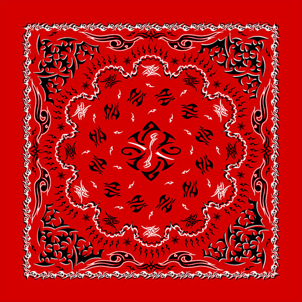 Red Tribal Paisley Bandanas