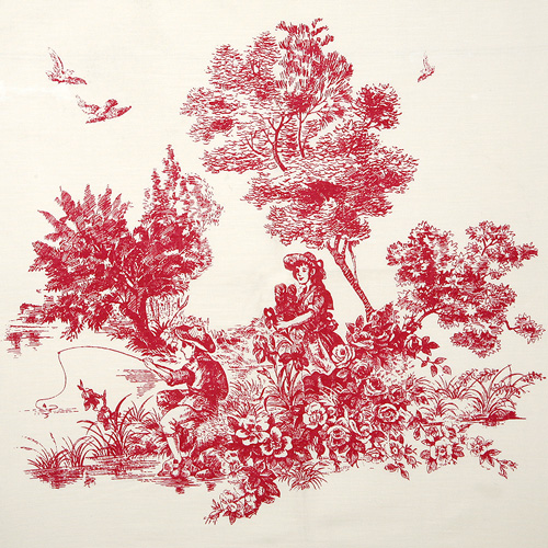Fishing Boy Red Toile Bandanas