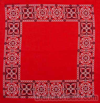 Open Center Red Paisley Bandanas