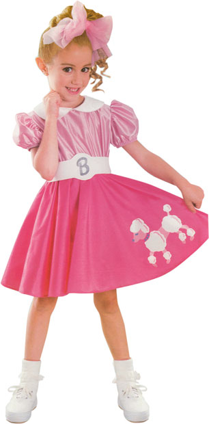 Child's Bobby Sox Barbie Costume