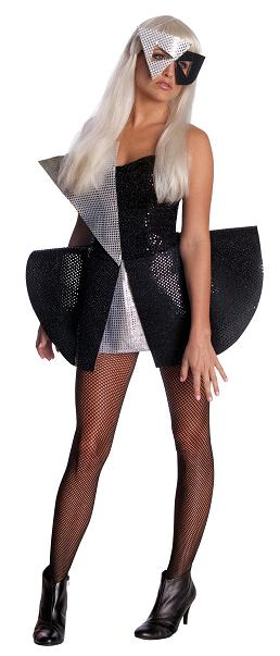 Lady Gaga Black Sequin Dress