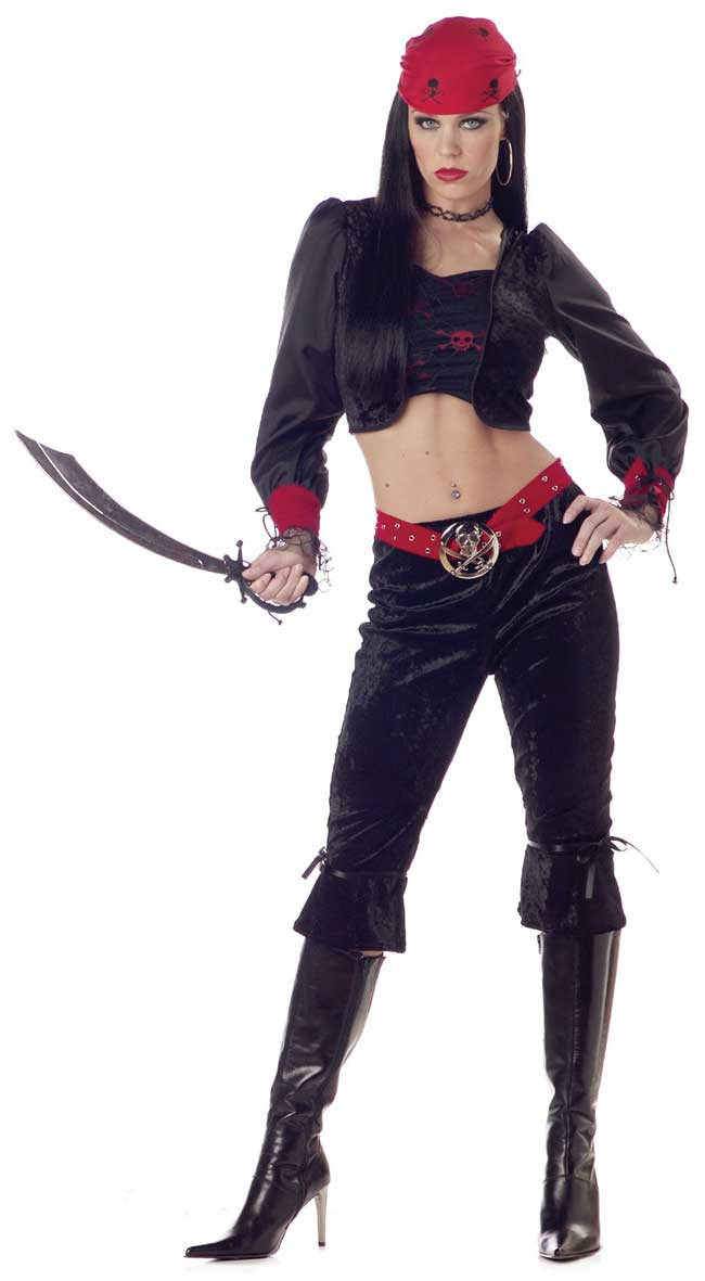 Adult Gothic Pirate Lady Costume