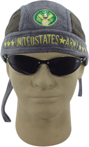 Embroidered Army Fleece Skull Cap