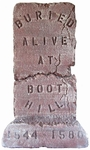 3' Buried Alive at Boot Hill Tombstone Prop