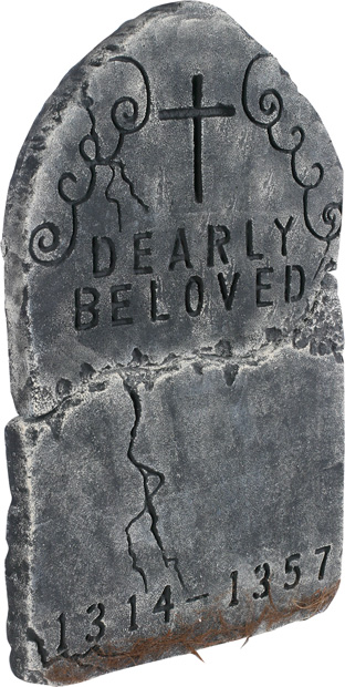 Dearly Beloved Halloween Tombstone Prop