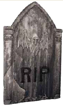 Skeleton Bat Halloween Tombstone Prop