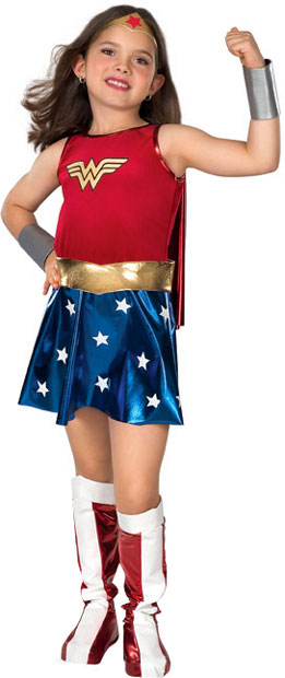 Child's Deluxe Wonder Woman Costume