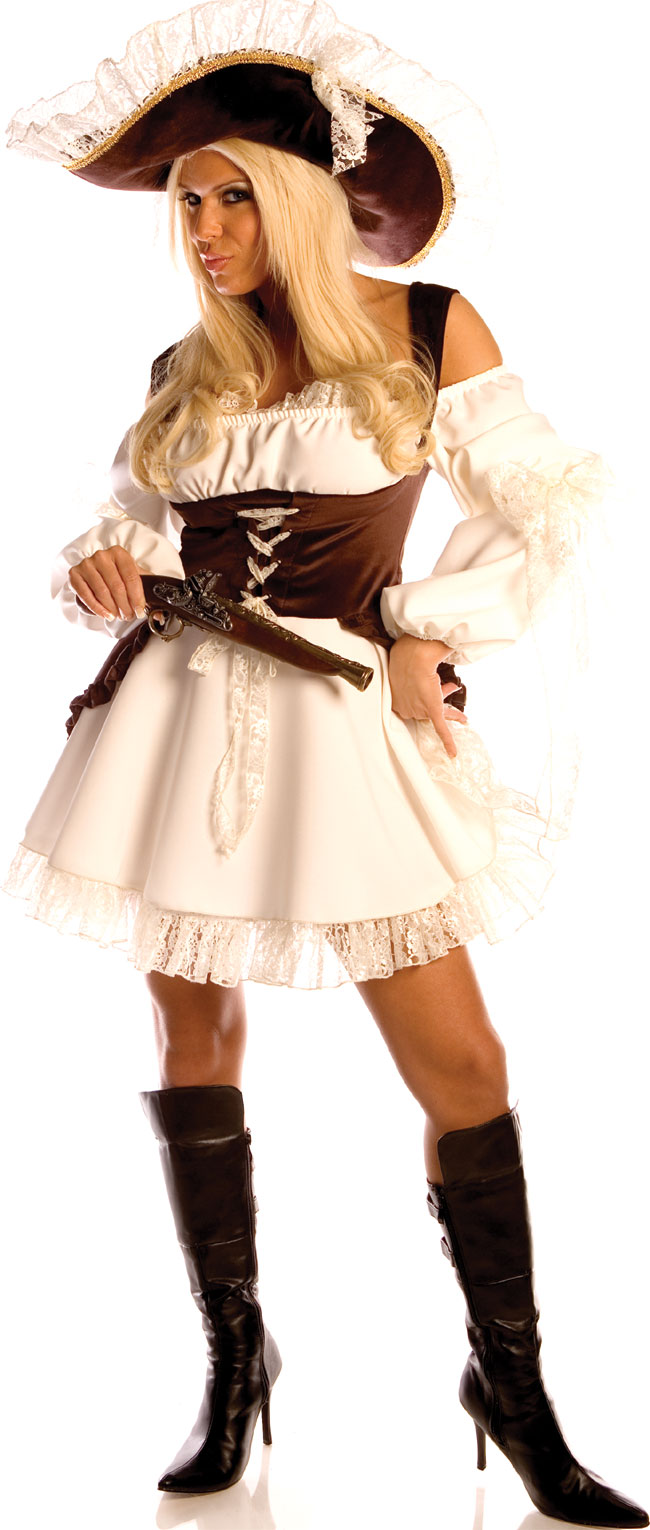 Women's Naughty Caribbean Pirate Costume
