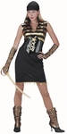 Adult Black & Gold Pirate Dress Costume