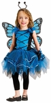 Girl's Blue Butterfly Ballerina Costume