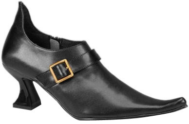 Women's Side Buckle Witch Shoes