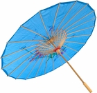 Blue Chinese Umbrella Costume Prop