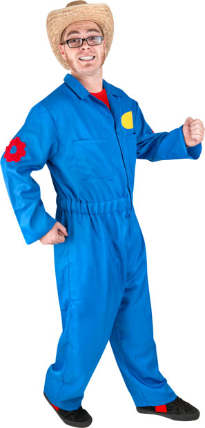 Adult Blue Movers Costume