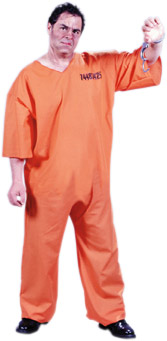 Plus Size Orange Prison Suit Costume
