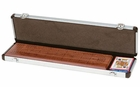 18� inch Walnut Cribbage Board with Playing Cards in Box