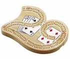 6 inch Lucky 29 Walnut Cribbage Board