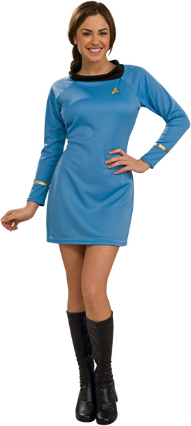 Woman's Star Trek Deluxe Classic Blue Costume Dress