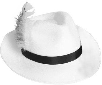 White Godfather Hat